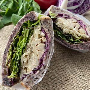 サラダチキンと牛蒡サラダのサンド